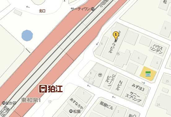 狛江市のホットヨガマップ