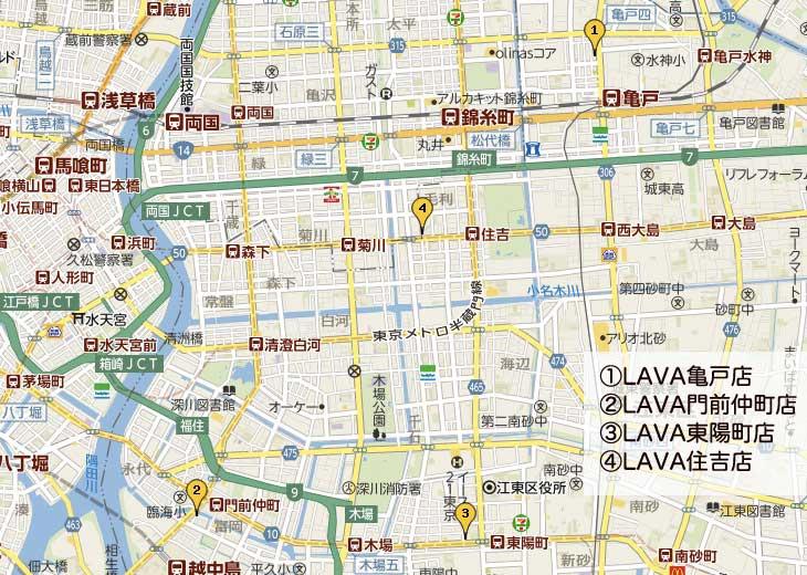 江東区のホットヨガマップ
